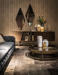 Inspired Decor Additions Bring In Geometric Contrast With Chic Glam Style