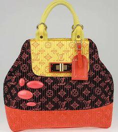 9617427e251 Louis Vuitton Limited Edition Neon Noir Monogram Motard Firebird Bag Used Louis  Vuitton