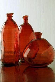Burnt Orange Glass Vase.                                                       …