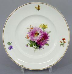 KPM Berlin Teller mit bunter Blumenmalerei, um 1900, D= 24,5cm #3 in Antiquitäten & Kunst, Porzellan & Keramik, Porzellan | eBay