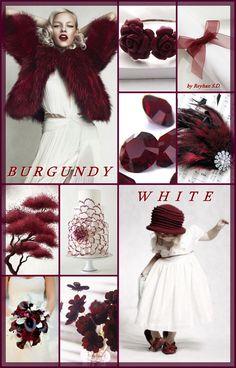 '' Burgundy & White '' by Reyhan Seran Dursun