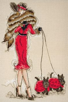 Scotties! A beautiful cross-stitch