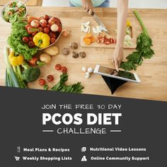 This free event includes PCOS recipes, meal plans, shopping lists, and nutritional video lessons. Join thousands of other women participating in this transformational journey and get the kick start you need to implement the ideal PCOS diet. Healthy Chicken Recipes, Healthy Dinner Recipes, Diet Recipes, Foods To Avoid, Healthy Foods To Eat, Healthy Habits, Pcos Diet, Nutrition, Diet Challenge