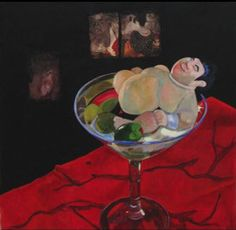 Intoxication by Ellen Orseck (Collage, oil on canvas)