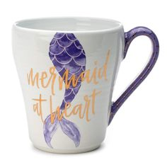 Tri-Coastal Design Coffee/Tea Mugs (Mermaid at Heart - Purple Mug): Mermaid At Heart Purple Scales Ceramic Coffee Mug / Tea Mug Coffee Cafe, Hot Coffee, Coffee Mugs, Funny Coffee, Coffee Quotes, Mermaid Cup, Mermaid Gifs, Mermaid Quotes, Mermaid Kisses
