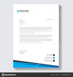 Download modern letterhead vector design template stock download modern letterhead vector design template stock illustration spiritdancerdesigns