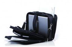 Triple Compartment Nylon Laptop Bag