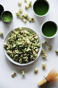 fork and flower: matcha popcorn