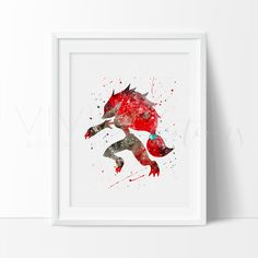 - Description - Specs - Processing + Shipping - Pokemon Go, Zoroark Pokemon Evolution Watercolor Art Print. - Create your own boy cave with our impressionistic + splatter watercolor style handmade art