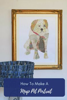 It is easier than you think to create some unique and stunning map art by using maps to collage a portrait of your pet. Full step by step tutorial. Crafts To Make, Fun Crafts, Crafts For Kids, Paper Crafts, Amazing Crafts, Decor Crafts, Craft Projects For Adults, Projects To Try, Art Projects