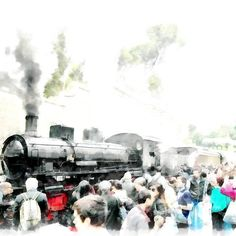 Steam locomotive in the Vatican station