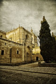 Picture of Historic Spanish town Ciudad Rodrigo, vintage style stock photo, images and stock photography. Spanish Towns, Vintage Fashion, Vintage Style, Image Now, Barcelona Cathedral, Royalty Free Stock Photos, Pictures, Photography, Travel