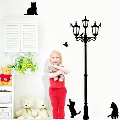 FREE Worldwide SHIPPING! $19.80 NOW $14.80 Creative Cat Wall Sticker Make yours, your children or pet living space looking fun with this sticker!Creative Cat Wall Sticker is perfect for Children Room, Living Room, Bedroom, cat corner and anywhere in the house! This wall sticker will improve the atmosphere and make it more fun, warm and artistic. #discountvault