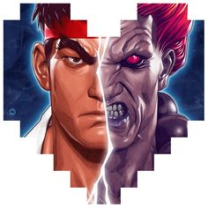 Pixel Hearts: Street Fighter Tribute - Created by Dani Blazquez