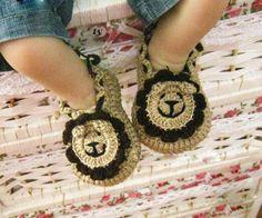 Handmade Crochet Baby Shoes Crocheting Baby Sandals Boys Shoes. $6.99, via Etsy.
