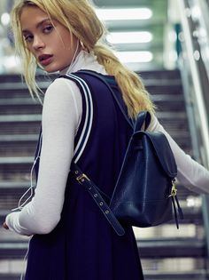 Essential Backpack | Essential faux leather backpack with a chic structured…