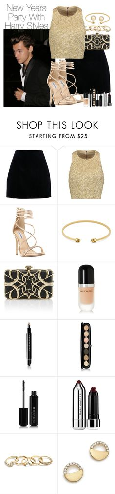 """New Years Party With Harry"" by barbarahs ❤ liked on Polyvore featuring Alice + Olivia, Steve Madden, Gucci, Elie Saab, Marc Jacobs, GUESS, Bloomingdale's, OneDirection, harrystyles and newyear"