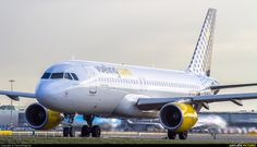 High quality photo of Vueling Airlines Airbus A320 by DennyRingenier. Visit Airplane-Pictures.net for creative aviation photography.
