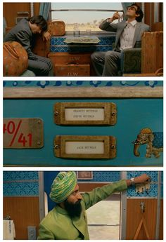 Darjeeling Limited train set (Adam Stockhausen) from Whorange's illustration of Beth Matthews' Wes Anderson film color palette