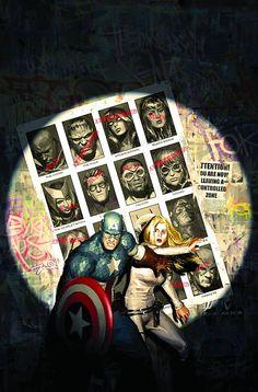 Captain America & Agent 13   Artist: Gerald Parel