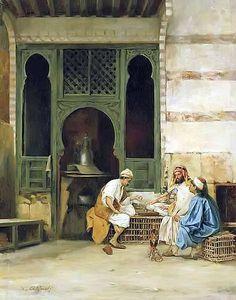 Chess Players , #Cairo Stanislaw Chlebowski - #Polish , 1835–1884