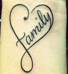 Family heart tattoo
