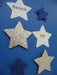 Image of Stars - Small - Dark Blue/Silver Glitter Silver Glitter, Blue And Silver, Dark Blue, Star Images, Paper Art, Alphabet, Nursery, Quote, Stars