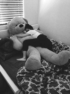 I'm cuddling my teddy bear now! I'm dating my teddy bear! Anyone wanna join in some cuddling! I'll let you kiss my bear! Huge Teddy Bears, Giant Teddy Bear, Big Bear, Cute Bear, Girly Things, Cute Couples, Real Couples, Cuddling, Photos