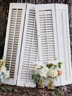 rustic wedding decor idea....have these in garage, paint them antique white