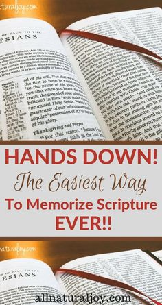 The easiest way you'll ever find to memorize Scripture. Try this Scripture memory idea to teach kids and adults the best system for hiding God's Word in your heart.
