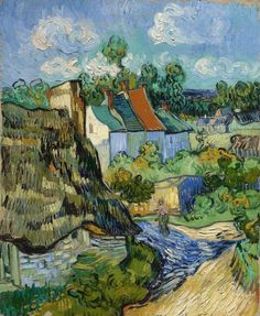 Art of the Day: Van Gogh, Houses in Auvers, May 1890. Oil on canvas, 72.0 x 60.5 cm. Museum of Fine Arts, Boston.