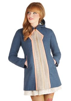 Lauren Moffatt Mod Marvel Coat in Azure, #ModCloth--Only $600 and it won't match with anything!  But it's cute...