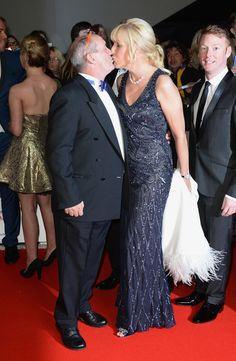 Jennifer Gibney Photos - Brendan O'Carroll kisses Jennifer Gibney as they attend the National Television Awards at 02 Arena on January 2014 in London, England. - Arrivals at the National Television Awards — Part 2 Mrs Browns Boys Cast, Bridesmaid Dresses, Prom Dresses, Formal Dresses, Wedding Dresses, Death In Paradise, January 22, Funny People