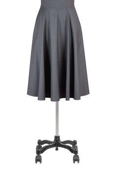 Menswear Inspired Fabric Skirts, Mid-Calf-Length Suiting Skirts Womens long skirts - Black Skirt, White Skirt, Long Skirt, Denim chambray Skirts - Women's designer clothing - | eShakti.com