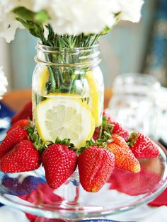 lemons in flower arrangement make pretty summer display ...