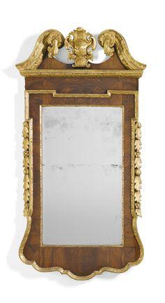 A George II walnut and parcel-gilt mirror circa 1735  Sotheby's