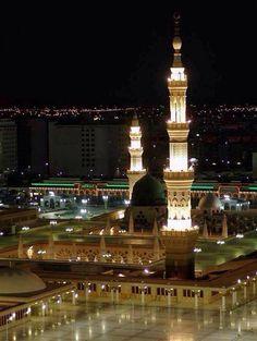 ♥ The Beauty Of Masjid-e-Nabawi Al Masjid An Nabawi, Masjid Al Haram, Islamic Images, Islamic Pictures, Islamic Art, Islamic Sites, Islam Religion, Islam Muslim, Muslim Pray