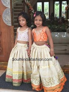 Image result for south indian style lehenga for kids