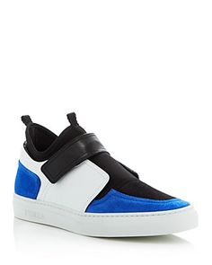 Furla's mixed-media design restructure the sport essential sneaker in clean lines with crisp color blocking.   Leather, suede and neoprene upper, leather lining, rubber sole   Made in Italy   Fits tru