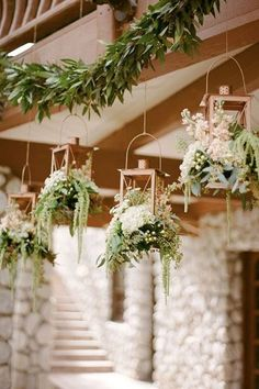 Whimsical Wedding Trends 2019 ★ whimsical wedding flowers in lanterns Rebecca Yale Photography Hanging Centerpiece, Lantern Centerpieces, Wedding Table Centerpieces, Centerpiece Ideas, Centerpiece Flowers, Hanging Garland, Floral Wedding, Rustic Wedding, Wedding Reception