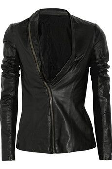 Rick Owens Asymmetric leather jacket | THE OUTNET