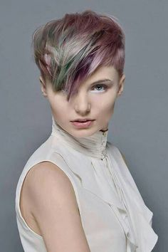 Awesome Pixie Cut with Hues of Different Colors-pin it from carden