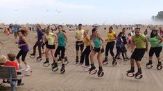 Beach Flashmob; second kangoo flashmob I organized  @Kangoo_Jumps