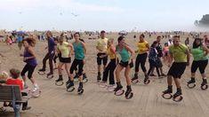 Beach Flashmob; second kangoo flashmob I organized  @Kangoo_Jumps