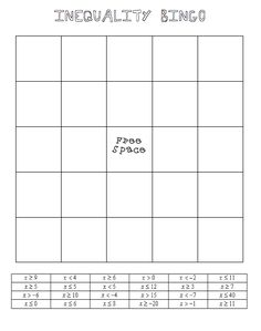 Absolute Value Inequalities Worksheets | Math-Aids.Com | Pinterest ...