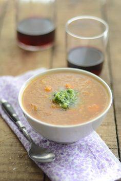 Vegetable Quinoa Soup with Celery Pesto