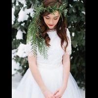 40 цветочных венков для зимнего образа невесты