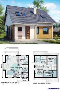 Small House Plans, House Floor Plans, Building Plans, Building A House, Small House Design, Story House, Home Design Plans, Pent House, Future House
