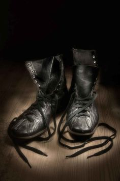 'Boxing Shoes - Waiting' by Ted Coldwell is available now at www.herringbone.ca. Photograph on archival paper, various sizes and mounting options.  #canadianart #canadianphotography #canadianartgallery #novascotiaphotographer #boxing #herringbonegallery Canadian Art, All Print, Black Metal, Herringbone, Boxing, Combat Boots, Ted, Waiting, Framed Prints