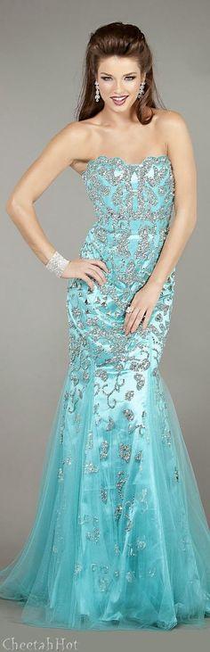 5fef714cd6debe Azul Tiffany, Tiffany Blue, Formal Gowns, Strapless Dress Formal, Fancy  Gowns,